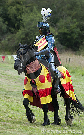 Knight at the Medieval Joust competition