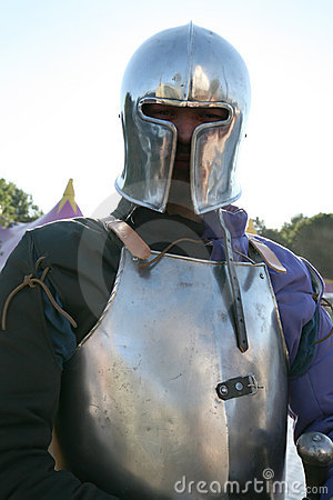 Knight in metal armour