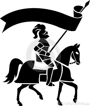 Free Knight On Horse With Banner/ai Stock Photography - 14909952