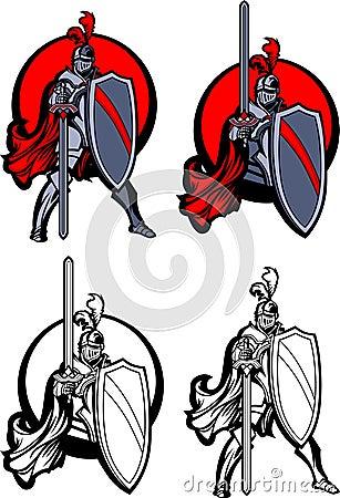 Knight Paladin Mascot Logo