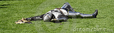 Knight playing dead