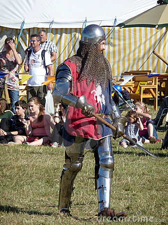 Knight Ready For Battle 31st August 2009 Editorial Stock Photo