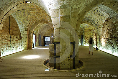 Knight s Halls - Akko (Acre), Israel Editorial Photography