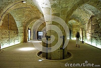 Knight s Halls - Akko (Acre), Israel Editorial Photography