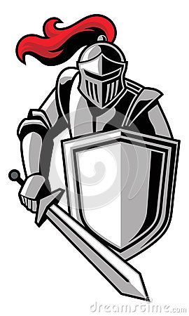 Lancer Knight Clipart knight with shield stock photo - image: 34561970