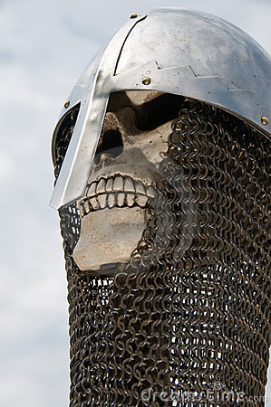 Knight skull helmet and chainmail