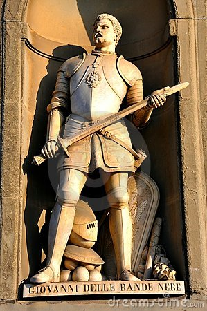 Knight statue in Italy