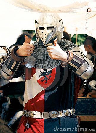 Knight Thumbs up Editorial Stock Image