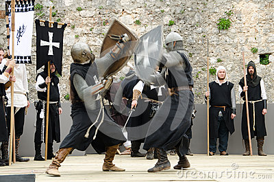 Knightly battle Editorial Image
