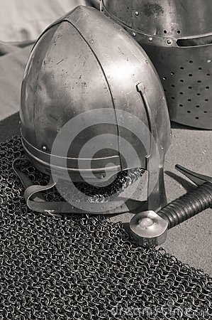 Knightly weapon and armour