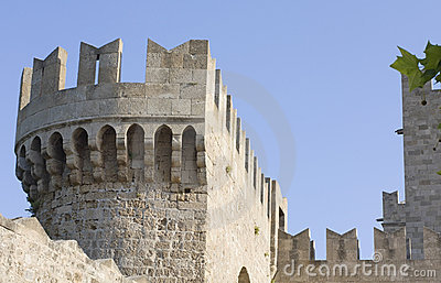 Knights castle at Rhodes Greece