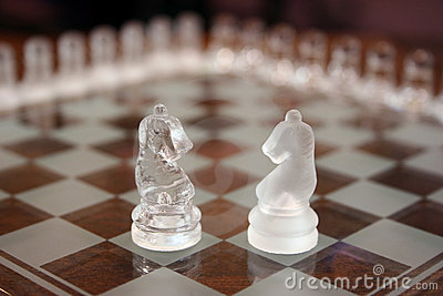 Knights on chessboard