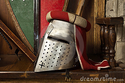 Knights helmet with semi-visor