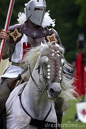 Free Knights Jousting Warwick Castle England Uk Stock Photography - 205302