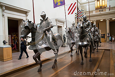 Knights at museum Editorial Photo