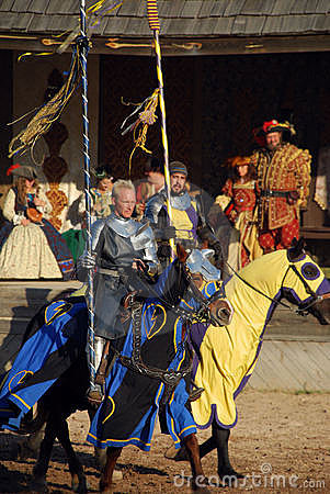 Knights at Renaissance Festival Editorial Photography