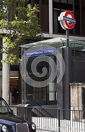 Knightsbridge underground station Editorial Stock Photo