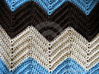 great pattern of a knitted afghan - just like your grandmother makes