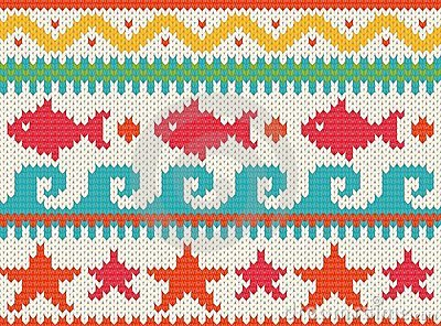 Knitted beach pattern