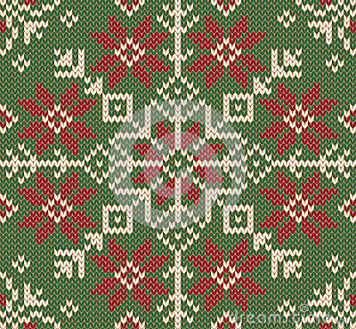 Royalty Free Stock Images: Knitted Christmas background. Nordic style.