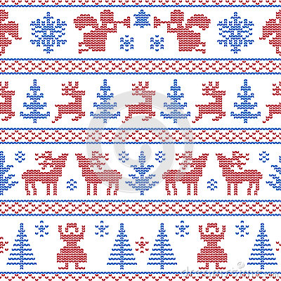 Knitted christmas background