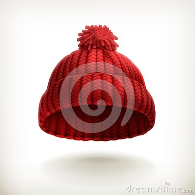 Free Knitted Red Cap Royalty Free Stock Photos - 34200018