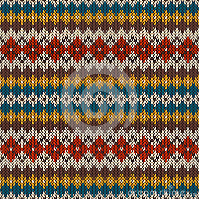 Free Knitted Seamless Pattern In Fair Isle Style. EPS Available Royalty Free Stock Photo - 43914405