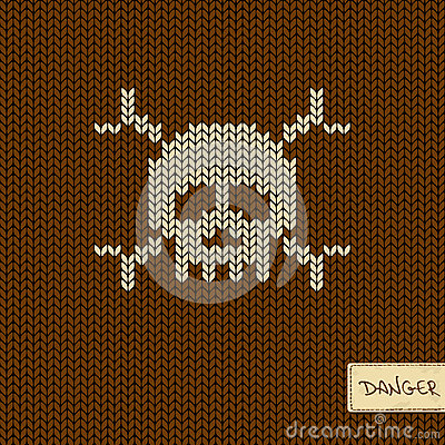 Free Knitted Seamless Pattern Or Background With Skull Royalty Free Stock Photos - 35598948