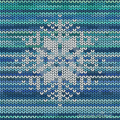 Knit Snowflake Ornament Pattern : Knitted Seamless Pattern With Snowflake Stock Vector ...