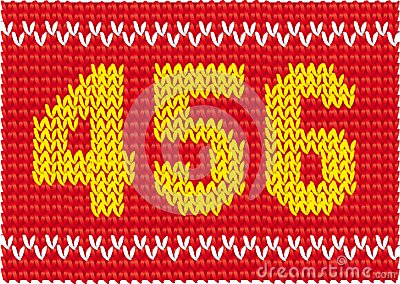 Knitting Pattern Numbers In Brackets : Knitted Set Of Numbers Royalty Free Stock Photos - Image: 28158458