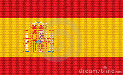 Knitted Spanish Flag