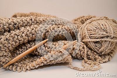 Knitted Yarn Blanket