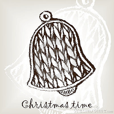 Knitting christmas bell