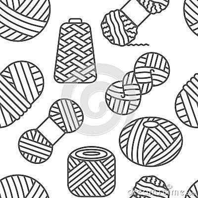 Free Knitting, Crochet Seamless Pattern. Knit Wool Yarn Royalty Free Stock Photo - 133636505