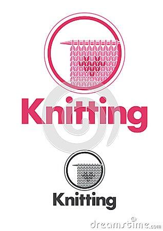 Knitting logo