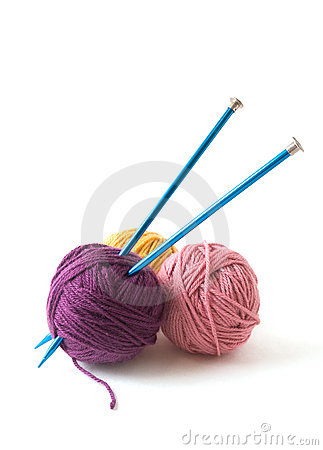Free Knitting Needles And Yarn Stock Photos - 2886823