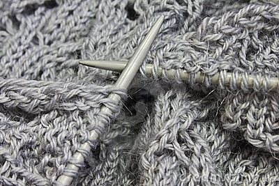 Knitting pattern on the needles