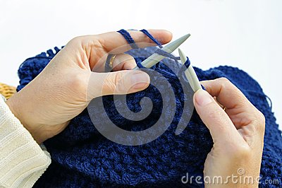Knitting for relaxation
