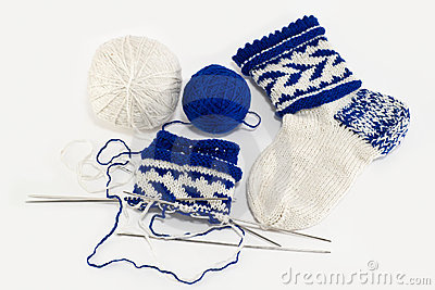 Knitting socks, hobby