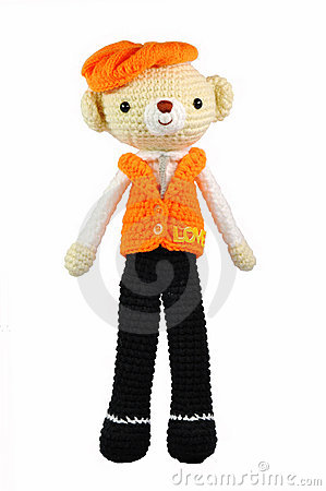 Free Knitting Wool Bear Doll Royalty Free Stock Image - 18446176