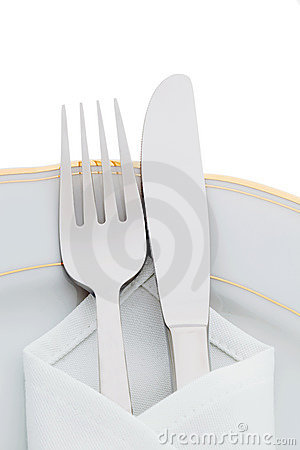 Knives, forks and plates