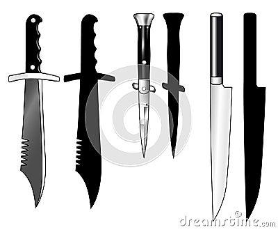 Knives : Hunting knife, Switchblade, Carving knife : Dreamstime