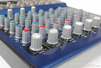 Knobs on Mixing Board