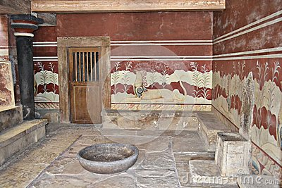 Knossos, Crete in Greece.
