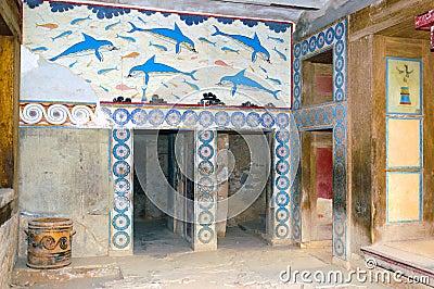 Knossos palace interiors