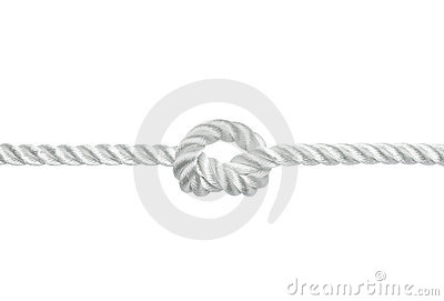 Knot On A Rope Royalty Free Stock Images - Image: 18263229