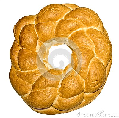 Knot shaped bread