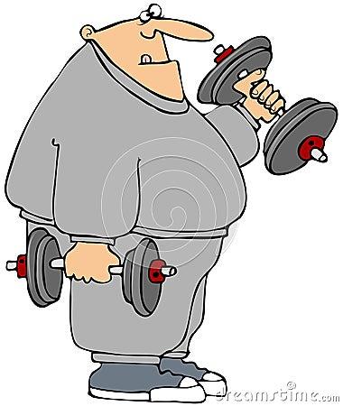 Knubbig weightlifter