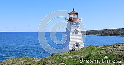 Knura ` s głowy latarnia morska w nowa Scotia, Kanada 4K zbiory wideo