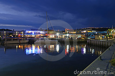 Knysna Waterfront at Dusk